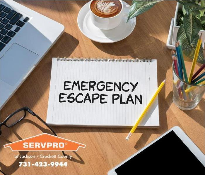 Fire Damage Escape Route, Evacuation Plans
